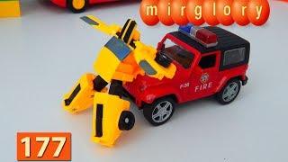 Трансформеры мультфильм Пожарный Джип игрушки Город машинок 177 серия Мультики для детей видео