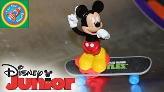 Diy Skateboarding Ramp With Mickey Minnie Donald Daisy Goofy Pluto Play Doh