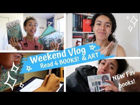 Weekend Vlog | Read 4 BOOKS & Art | JND