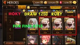 Seven Knights - Draw 1250 Ruby For Find Kyle (hoki lvl 99)