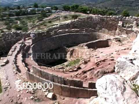 0300 Grave Circle A (cemetery) - bronze age royal citadel -Mycenae, Greece
