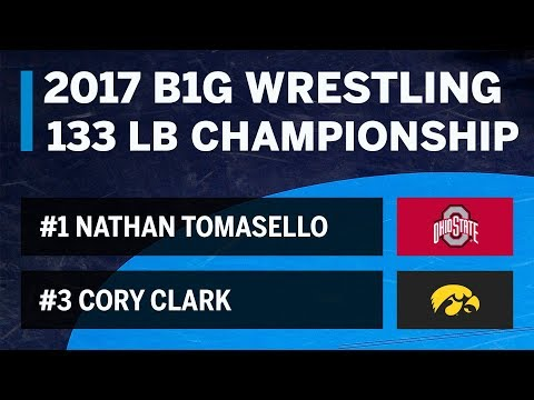 Tomasello vs. Clark - 133 LBs - Big Ten Wrestling Championship