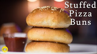 Stuffed Pizza Buns Recipe in Pressure Cooker and Oven  Breakfast Recipes