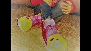 como hacer Zapatos de payasita:) en foami