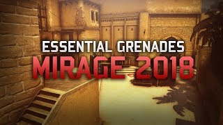 Mirage (Updated 2018) Best Smokes and Grenades