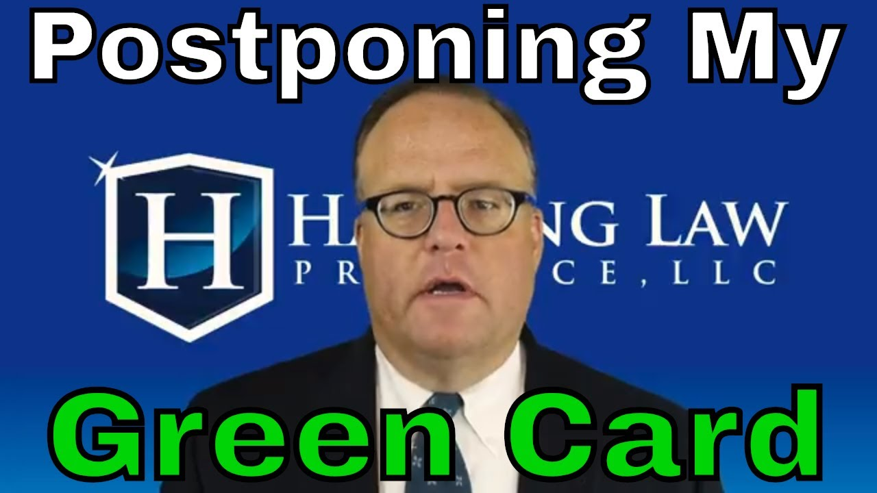 Can I Postpone My Green Card Interview?