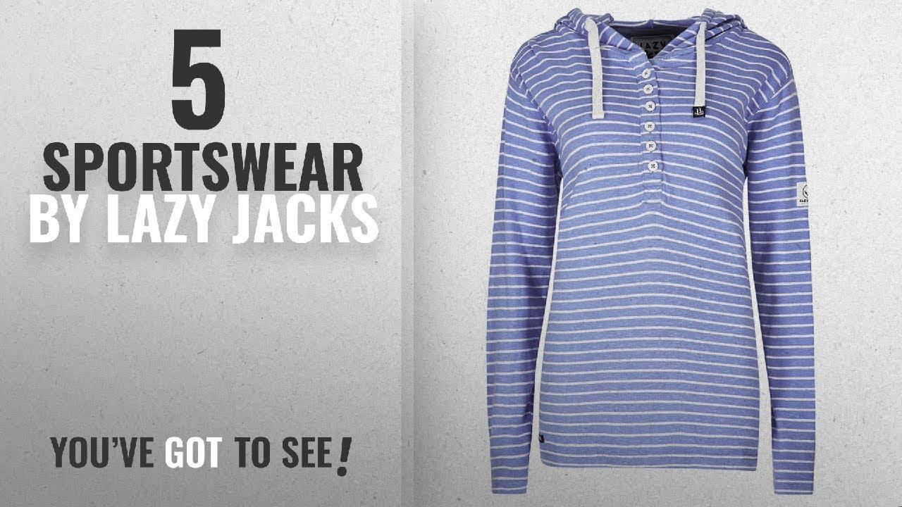 7cafd759 Top 10 Lazy Jacks Sportswear [2018]: Lazy Jacks Stripe Hoody - Bluebell