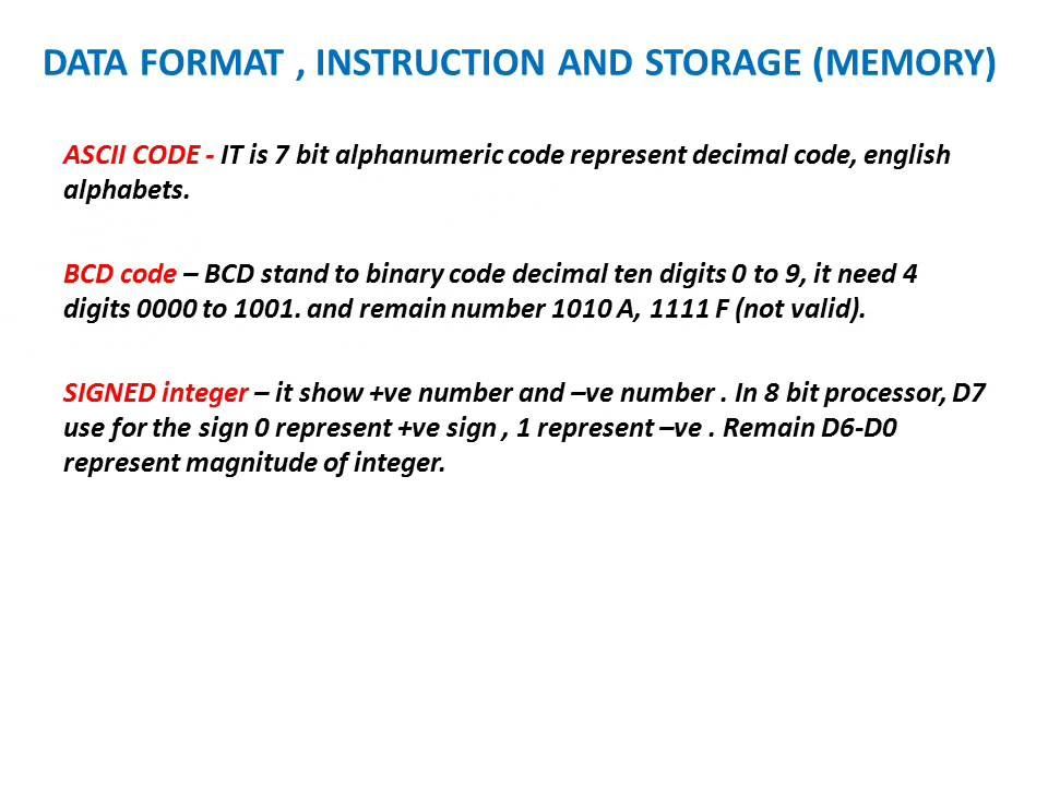 Learn And Grow Data Format Instruction And Storage Memory