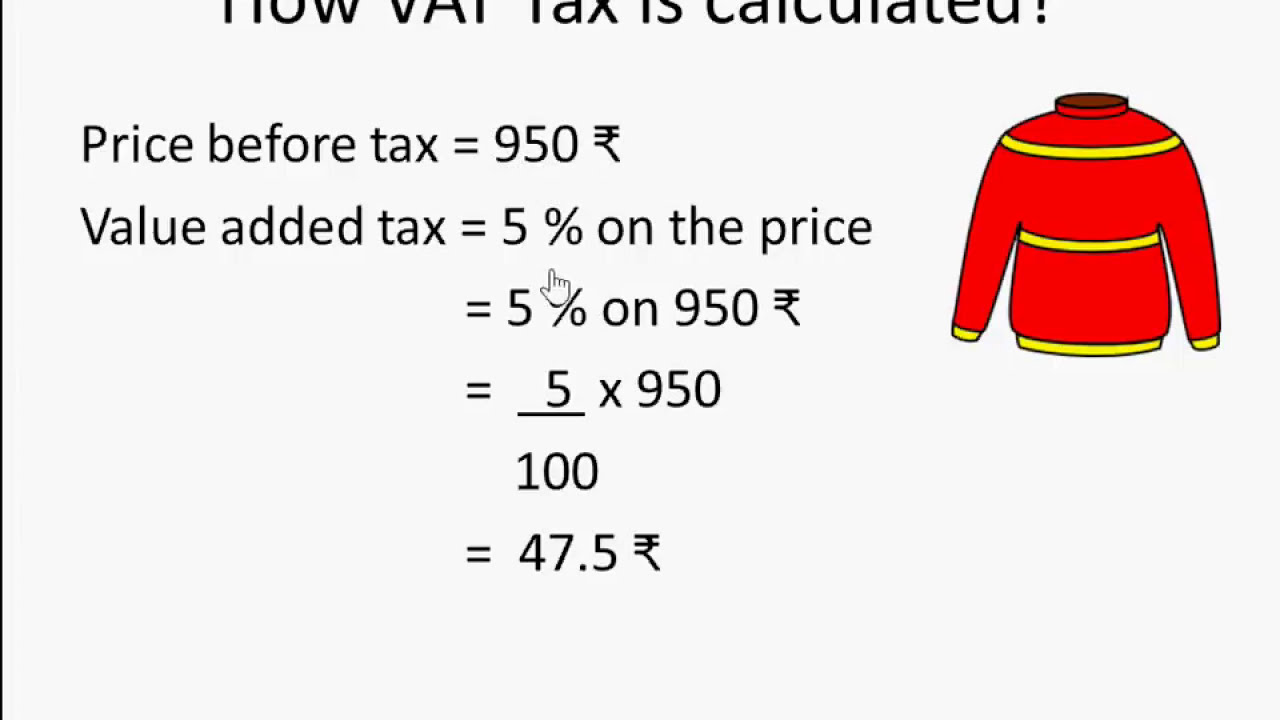 Understanding difference between vat and gst with example.
