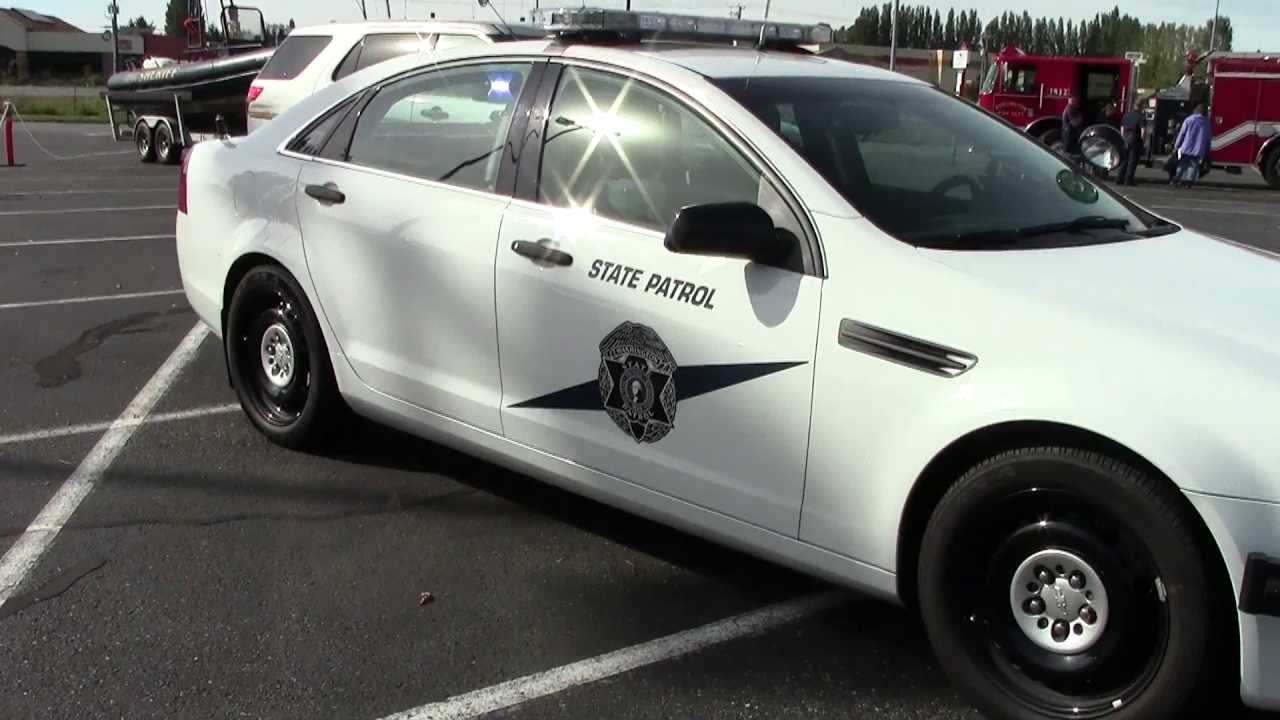 washington state patrol chevrolet caprice with lights flashing youtube. Black Bedroom Furniture Sets. Home Design Ideas
