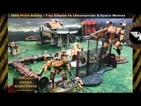 BRAND NEW 8TH EDITION BATTLE REPORT.. Tau vs Ultramarines Warhammer 40k, 1850 points
