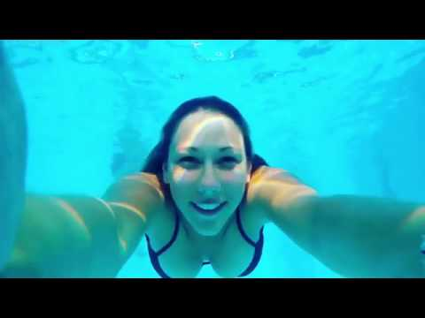 Underwater shooting in summer time shot by MGCOOL Explorer 4K action camera