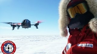 Parrot AR.Drone 2.0 flying over South Pole in Antarctica