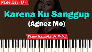 Agnes Monica - Karena Ku Sanggup Karaoke Piano Male Key/Pria