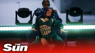 Cardi B straddles husband Offset at the BET Awards
