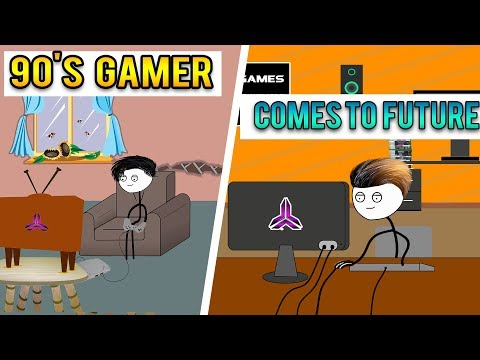 When 90's Gamer Comes To The Future And Play Today's Games