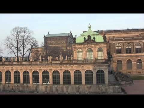 Views Around the City of Dresden, Saxony, Germany - February