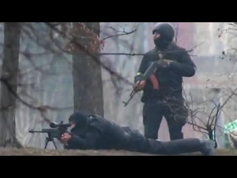 Ukraine Protest Footage: Protesters Targeted by Snipers in Kiev