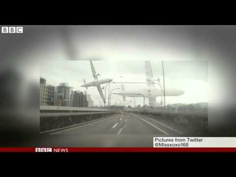BBC News   Footage emerges of TransAsia Airway plane crash in Taipei