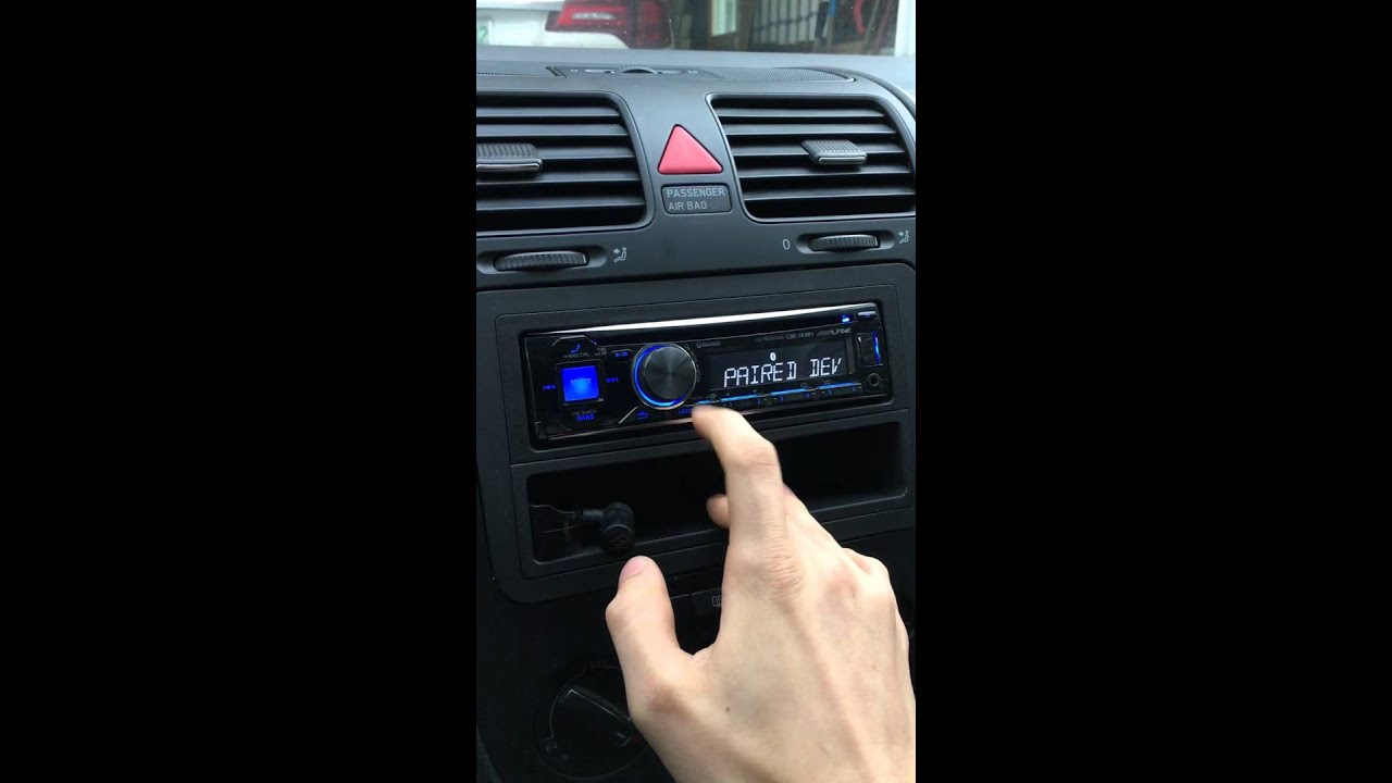 Alpine radio Bluetooth connection fix