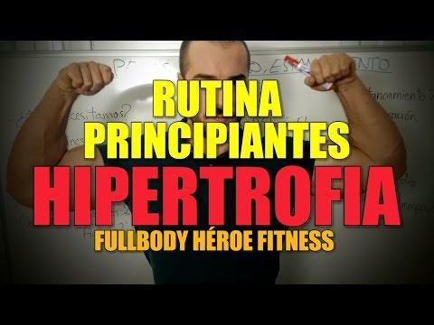 RUTINA FULLBODY PRINCIPIANTES MÁXIMA HIPERTROFIA - HÉROE FITNESS