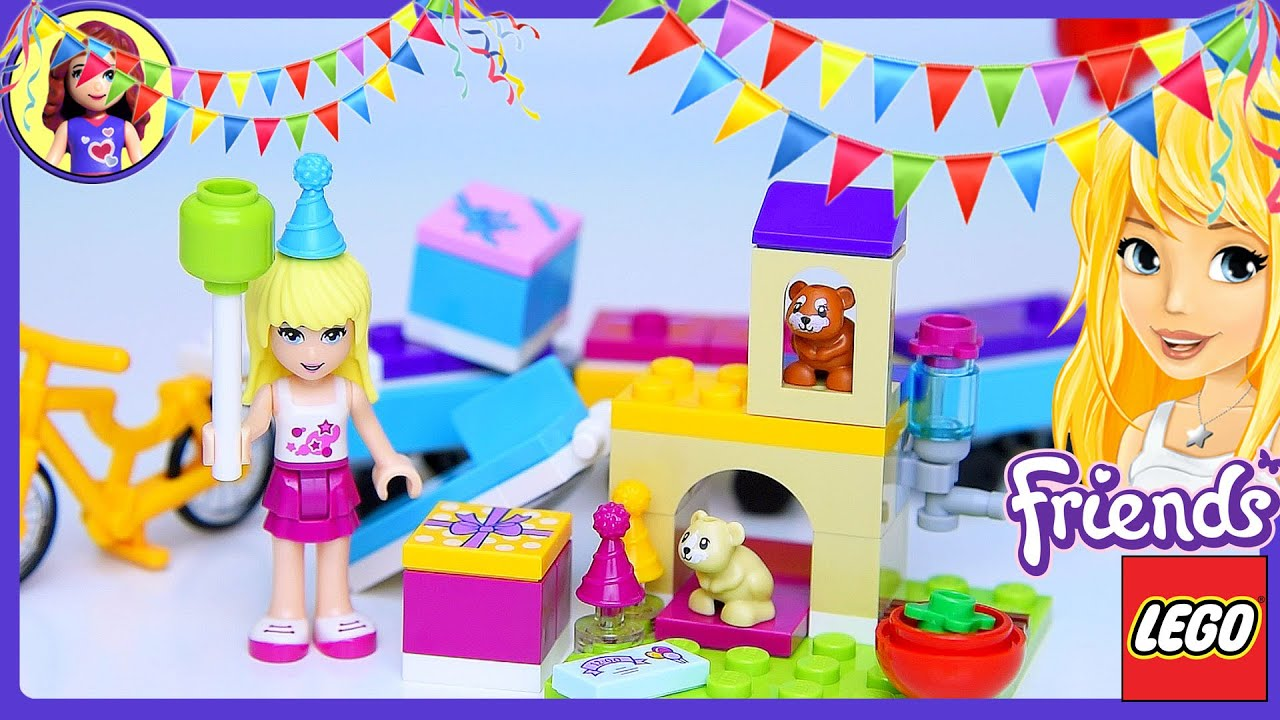 Lego Friends Party Train Set Build Review Play - Kids Toys - YouTube