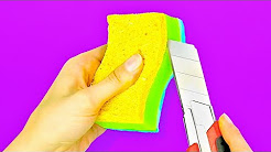 Life Hack Ideas- NEW USES FOR SPONGES