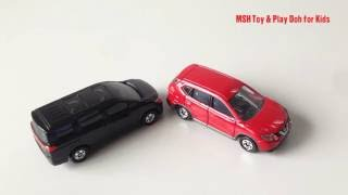 Tomica Toy Car | Nissan X - Trail , Nissan Elgrand , Mitsubishi Mirage | toy car review