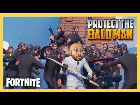 Protect The Bald Man! Fortnite Custom Matchmaking Minigame