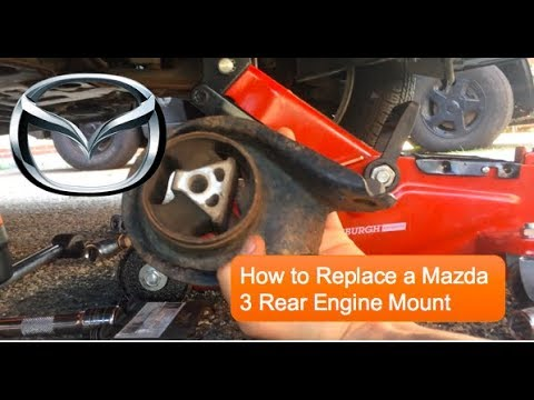 [HD 1080p] How to Replace Mazda 3 Rear Engine Mount
