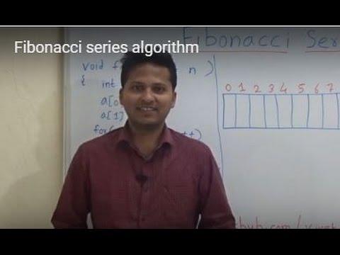 Fibonacci series algorithm(using simple code)
