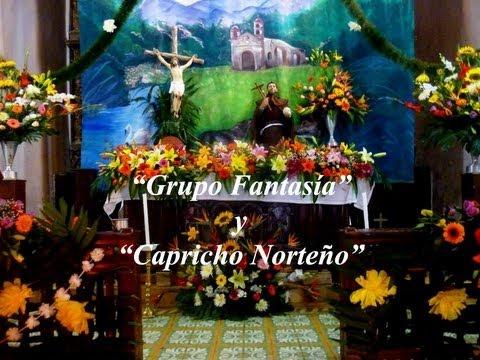 San Francisco Huehuetlán. Procesión, Grupo Fantasía y Capricho Norteño.
