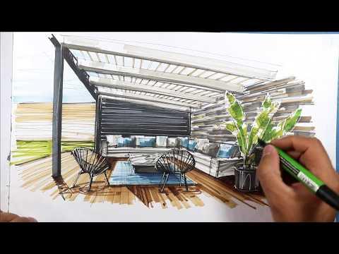 terrace sketch