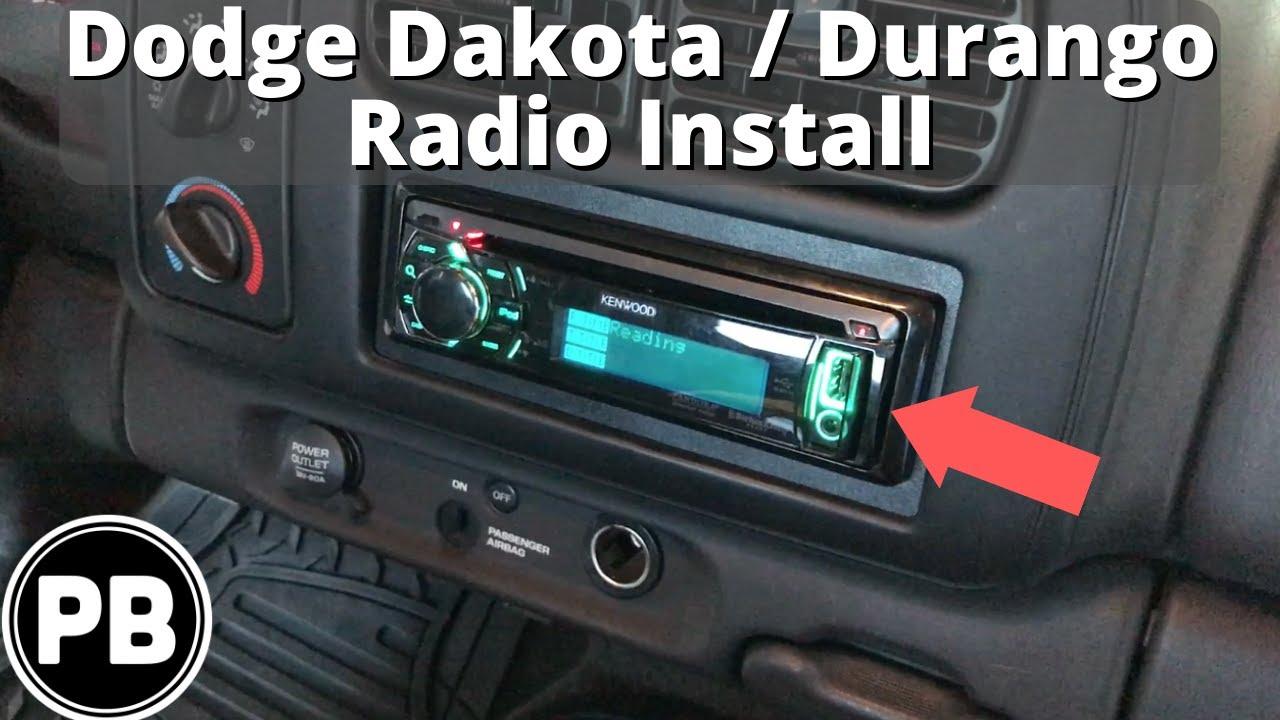 1997  2000 Dodge DakotaDurango Stereo Install w Volume Controls  YouTube