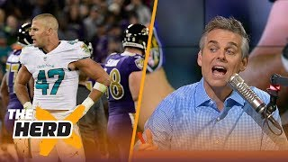 Colin Cowherd reacts to Kiko Alonso's hit on a sliding Joe Flacco | THE HERD