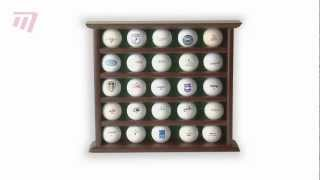 Masters Golf - Golf Ball Display Wooden (g0050)