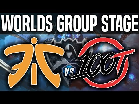 FNC vs 100 - Worlds 2018 Group Stage Day 8 - Fnatic vs 100 Thieves - Worlds 2018 Group Stage Day 8