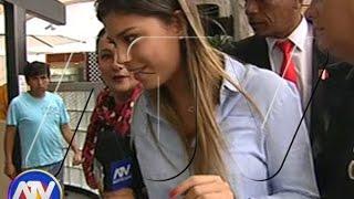 Alondra García Miró llegó a la concentración de Perú