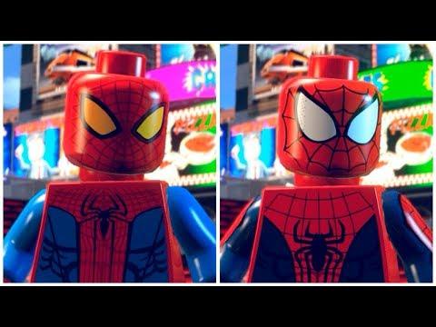 All SPIDER-MAN TASM Suits In LEGO Marvel Super Heroes Cutscene