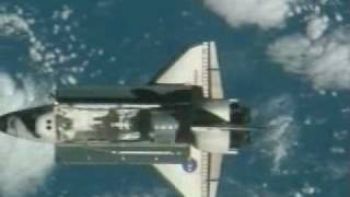 STS-123 Endeavour Rendezvous Pitch Maneuver and Docking