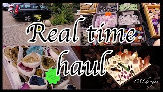 Real time haul⎮follow me to the Rock Gem 'N' Bead show