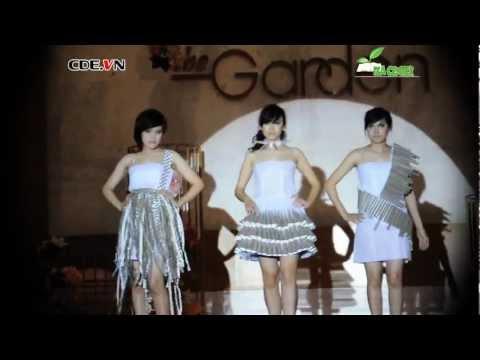 [HD] The garden - giờ trái đất 2013 với thời trang giấy khoa Môi Trường, đh KHTN (full)