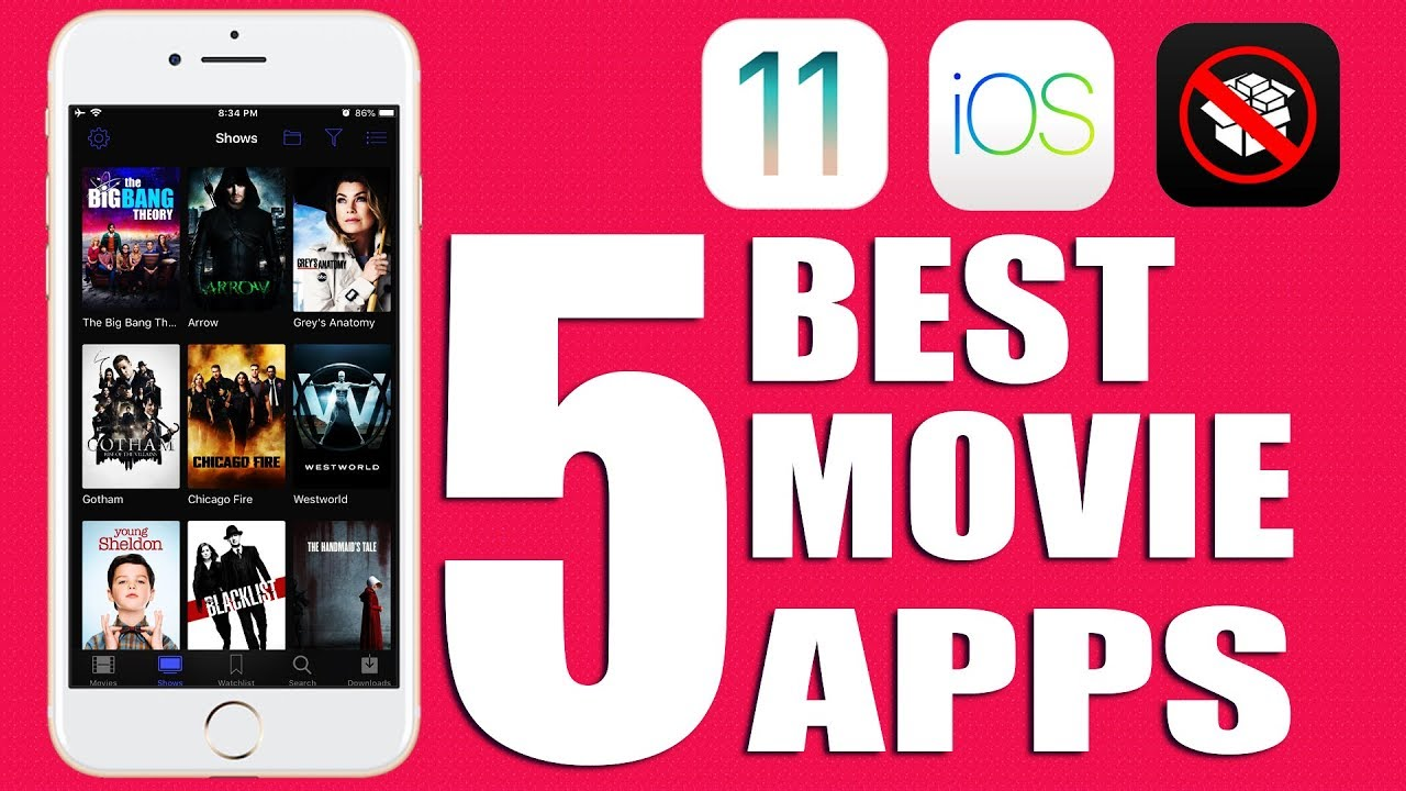 Top 5 Best Apps To Watch Movies & TV Shows FREE iOS 11 - 11.4 / 10 ...