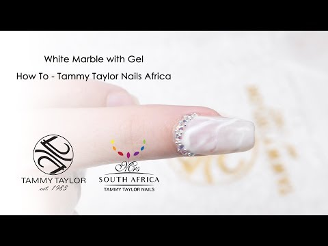 White Marble with Gel How To - Tammy Taylor Nails Africa