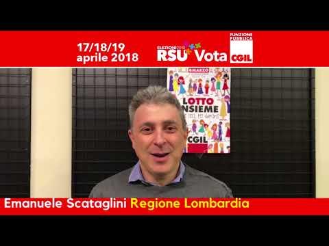 Emanuele Scataglini candidato per la FP CGIL per le elezioni RSU della Regione Lombardia