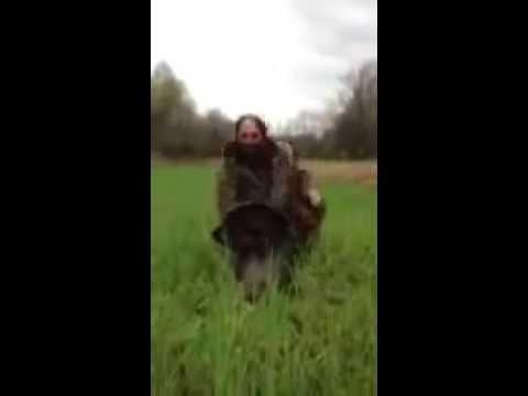 Funny turkey hunter
