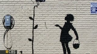The elusive graffiti artist known as banksy plans to spend month of october making new york city his canvas. elaine quijano reports on anonymous phen...