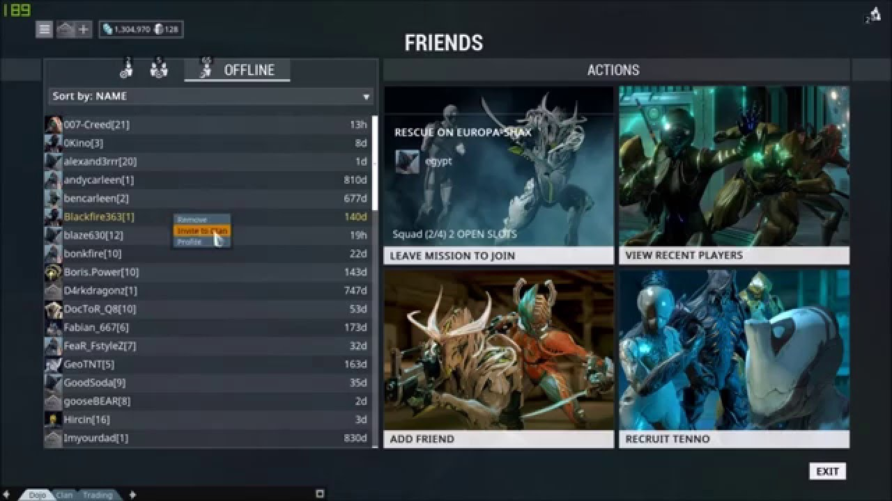 How to invite people to your clan in warframe youtube stopboris Image collections