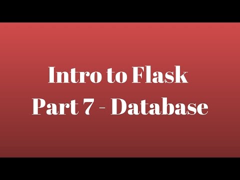 Intro to Flask (Part 7) - Database
