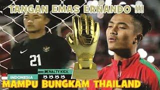 Aksi Heroik Ernando Kiper Indonesia U 16 Gagalkan 2 Tendangan Pinalty Timnas Thailand